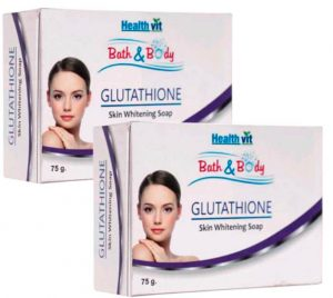 Healthvit Bath And Body Glutathione Skin Whitening Soap